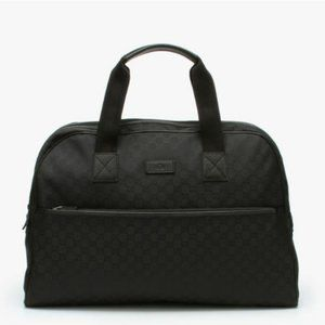 Gucci Nylon & Leather Weekender/Overnight Bag